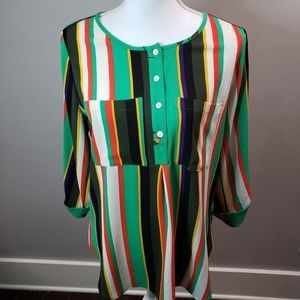 Anthropologie Fig & Flower Striped long top S